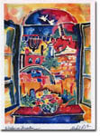Michele Pulver/Another Creation Jewish New Year Cards - Window On Jerusalem