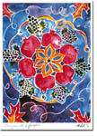 Michele Pulver/Another Creation Jewish New Year Cards - Pomegranates and Grapes