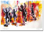 Michele Pulver/Another Creation Jewish New Year Cards - Chai Dancers