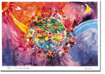 Michele Pulver/Another Creation Jewish New Year Cards - Peace Fills the Earth