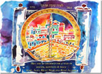 Michele Pulver/Another Creation Jewish New Year Cards - Torah & Peace Sign