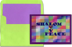 Designer's Connection Jewish New Year Cards - Shalom Love & Peace