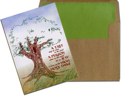 Designer's Connection Jewish New Year Cards - A Tree May Be Alone