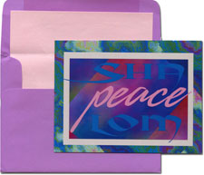 Designer's Connection Jewish New Year Cards - Abstract SHALOM Peace