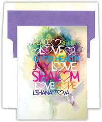 Designer's Connection Jewish New Year Cards - The Year That Love Wins