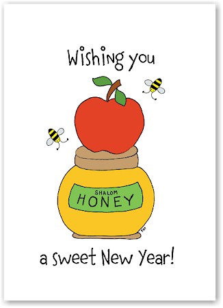 Just Mishpucha Jewish New Year Cards - Apple on Honey ...