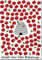 25pk Bee Blessed Jewish New Year Card-Rosh Hashanah Cards