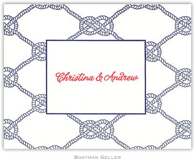 Boatman Geller - Nautical Knots Letterpress Stationery/Thank You Notes