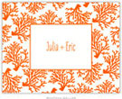 Boatman Geller - Coral Letterpress Stationery/Thank You Notes