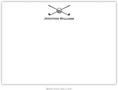 Boatman Geller - Simply Elegant Golf Medium-Sized Letterpress Invitations/Announcements (1A6L020Li15)