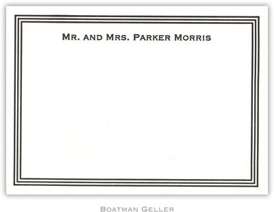 Boatman Geller - Grand Border Petite-Sized Letterpress Flat Cards (42201)
