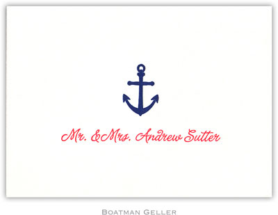 Boatman Geller - Anchor Petite-Sized Letterpress Folded Notes