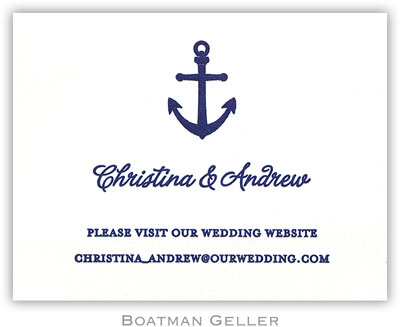 Boatman Geller - Anchor Letterpress Calling Cards/Gift Enclosure Cards