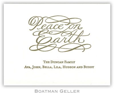Boatman Geller - Peace on Earth Letterpress Calling Cards/Gift Enclosure Cards