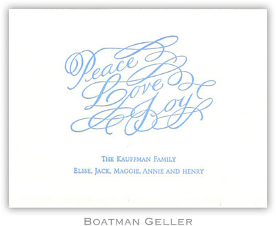Boatman Geller - Peace Love & Joy Letterpress Calling Cards/Gift Enclosure Cards