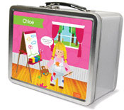 Spark & Spark Lunch Box - Artist At Work (Blonde Girl)