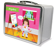 Spark & Spark Lunch Box - Artist At Work (Brunette Girl)