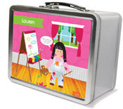 Spark & Spark Lunch Box - Artist At Work (Black Hair Girl)