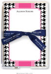 Boatman Geller Memo Sheets with Acrylic Holders - Alex Houndstooth Black