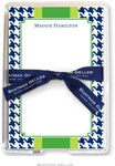 Boatman Geller Memo Sheets with Acrylic Holders - Alex Houndstooth Navy