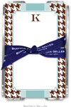 Boatman Geller Memo Sheets with Acrylic Holders - Alex Houndstooth Chocolate