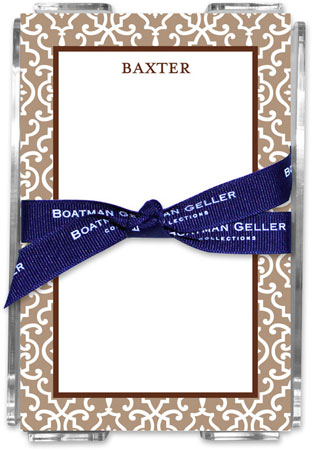 Boatman Geller - Create-Your-Own Memo Sheets With Acrylic Holder (Wrought Iron)