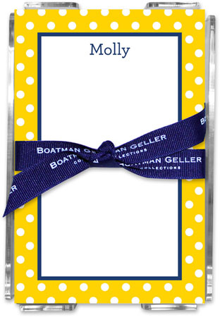 Boatman Geller - Create-Your-Own Memo Sheets With Acrylic Holder (Polka Dot)