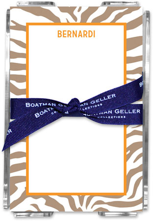 Boatman Geller - Create-Your-Own Memo Sheets With Acrylic Holder (Zebra)