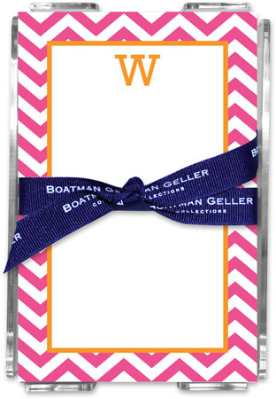 Boatman Geller - Create-Your-Own Memo Sheets With Acrylic Holder (Chevron)