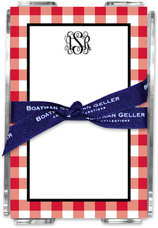 Boatman Geller - Create-Your-Own Memo Sheets With Acrylic Holder (Classic Check)