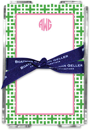 Boatman Geller - Create-Your-Own Memo Sheets With Acrylic Holder (Lattice)