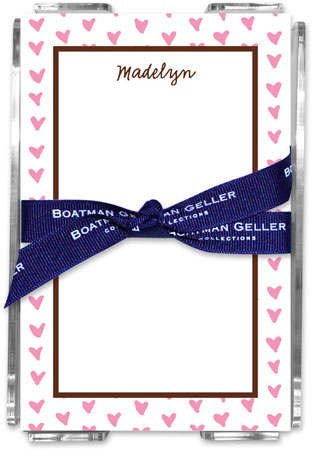 Boatman Geller - Create-Your-Own Memo Sheets With Acrylic Holder (Amor)