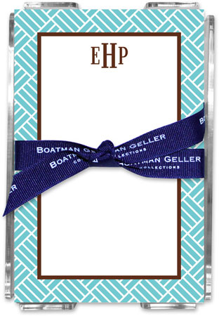 Boatman Geller - Create-Your-Own Memo Sheets With Acrylic Holder (Parquet)