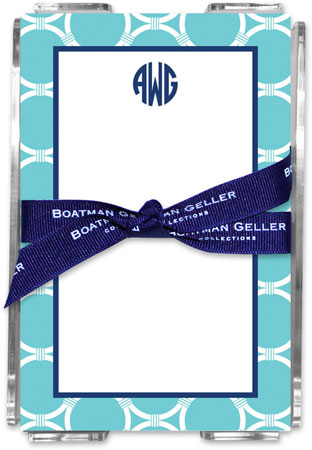 Boatman Geller - Create-Your-Own Memo Sheets With Acrylic Holder (Bamboo Rings)