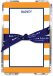 Boatman Geller - Create-Your-Own Memo Sheets With Acrylic Holder (Awning Stripe)