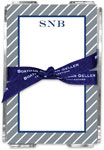 Boatman Geller - Create-Your-Own Memo Sheets With Acrylic Holder (Kent Stripe)