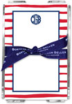 Boatman Geller - Create-Your-Own Memo Sheets With Acrylic Holder (Brush Stripe)
