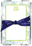 Boatman Geller - Create-Your-Own Memo Sheets With Acrylic Holder (Floral Toile)