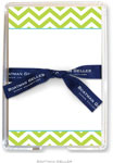 Boatman Geller Memo Sheets with Acrylic Holder - Chevron Lime (Blank)