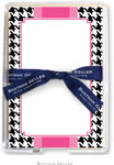 Boatman Geller Memo Sheets with Acrylic Holder - Alex Houndstooth Black (Blank)