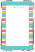 Emily Ley - Note Sheets in Acrylic (Ribbon Stripe Turquoise)