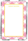 Emily Ley - Note Sheets in Acrylic (Pink Gingham)