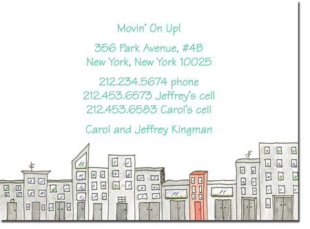 Blue Mug Designs Moving Cards - Cityscape