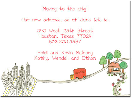 Blue Mug Designs Moving Cards - Movin' to The City