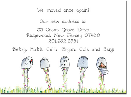 Blue Mug Designs Moving Cards - Mailboxes
