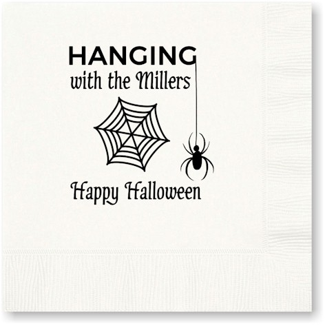 A Three Bees Item - Beverage Napkins (Halloween Hang With Us)
