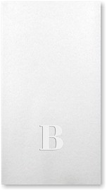 Blind-Embossed Linen-Like Guest Towels by Three Bees (Grand Initial)