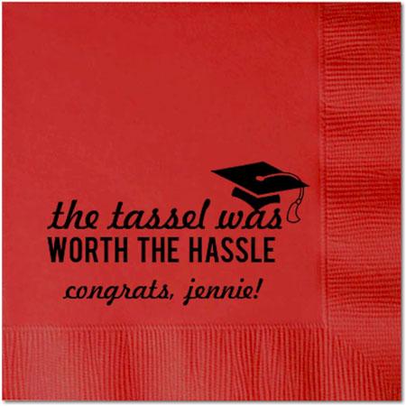 Personalized Napkins - Graduation Tassel