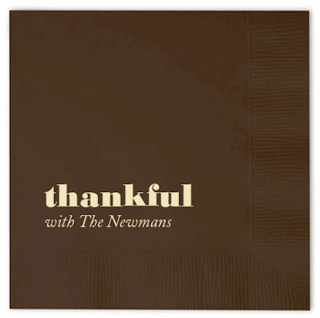 Personalized Napkins - Thankful