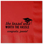 Personalized Napkins - Graduation Tassel